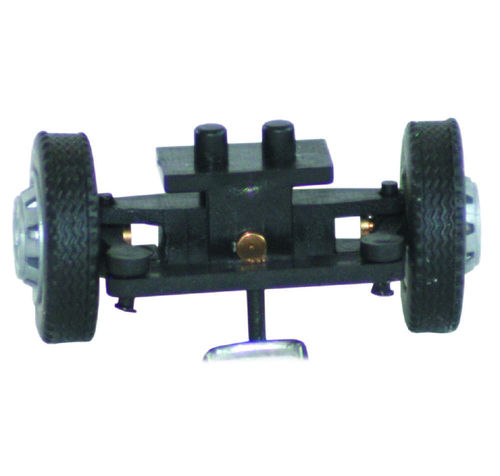 Steering for 1:87 car, pre-assembled, track width 14,5 mm