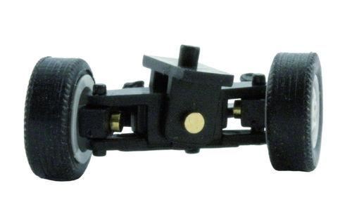 Steering for 1:87 PKW, pre-assembled, track width 16,5 mm