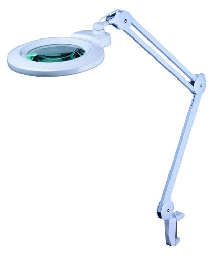 Magnifying lamp with clamp foot