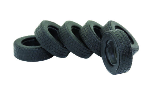 Set of 6 wide truck tires for the 1:87 scale