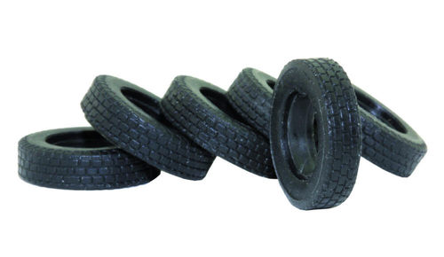 Set of 6 truck tires for the 1:87 scale