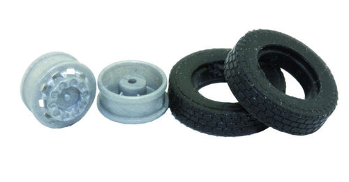 Set of 2 truck wheels for the 1:87 scale