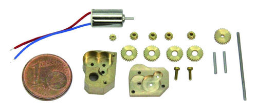 Car gearbox G56, construction kit, 1:87, in brass housing, 1:56, kit